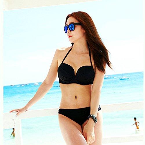 YUPE Hot spring Badeanzug einfachen schwarzen Bikini Badeanzug female hot spring Badeanzug
