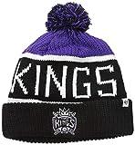 '47 Sacramento Kings Black Cuff Calgary Beanie Hat with Pom - NBA SAK Cuffed Winter Knit Toque Cap