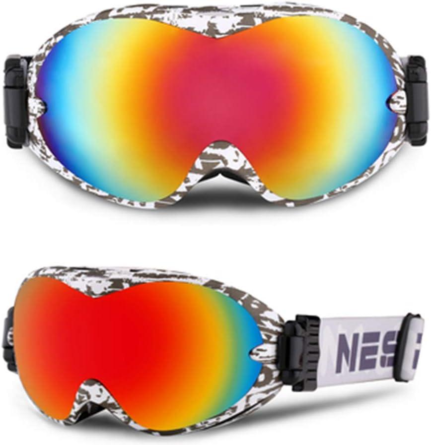 GJKFCV Gafas de esquí Doble antivaho Grandes Gafas sphériques ...