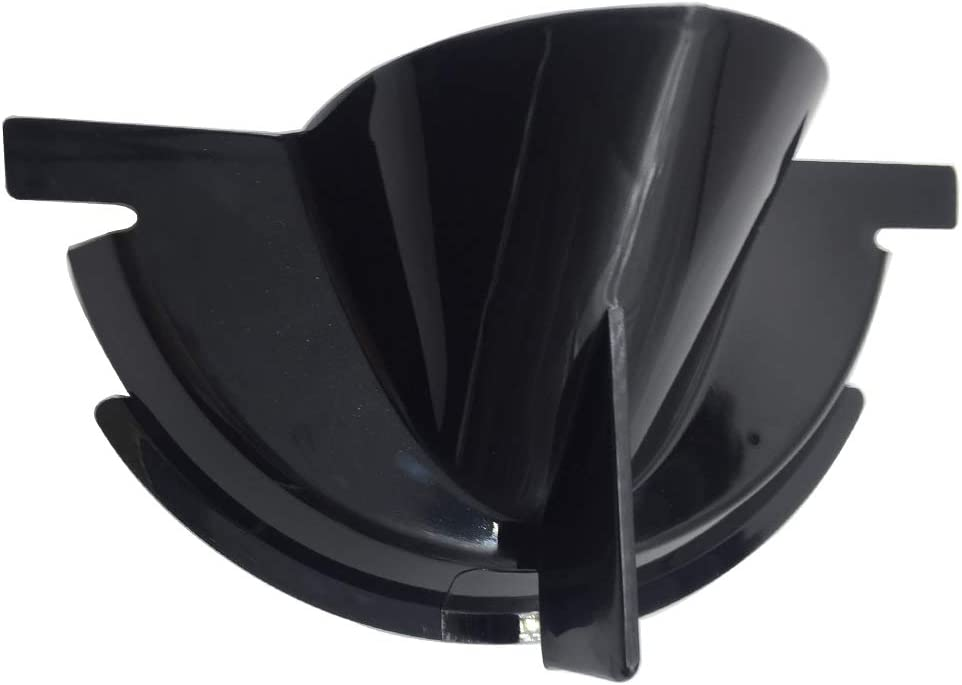 Lubinxun Black Primary Case Oil Fill Funnel for Harley Dyna Softail Touring Trike