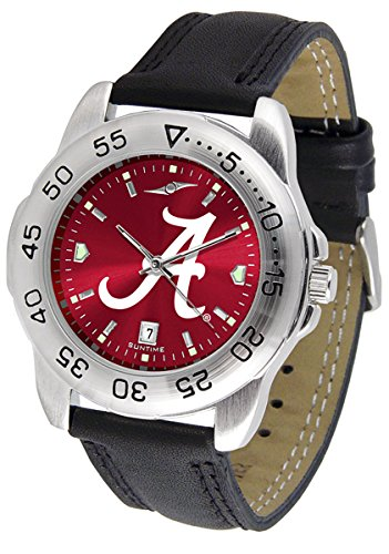 "Alabama Crimson Tide NCAA AnoChrome ""Sport"" Mens Watch (Leather Band)"