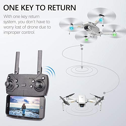 GoolRC S161 Mini Pro Drone, FPV Drone with 4K HD Camera, Foldable RC Quadcopter with Gesture Photos/Video, Follow Me, Altitude Hold, Track Flight, Include Storage Bag and 3 Batteries