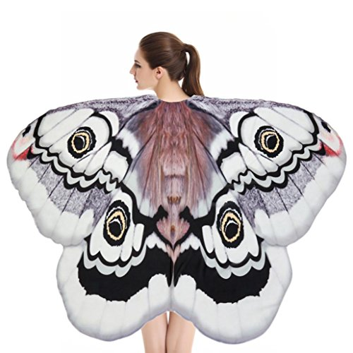 Vibola Beach Towel Soft Fabric Butterfly Wings Shawl Fairy Ladies Nymph Pixie Costume Accessory Shower Towel Blanket Table (E) - Teen Butterfly Queen Costumes