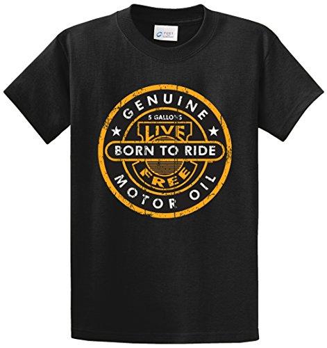 Ride Heavyweight T-shirt (MOTOR OIL LIVE TO RIDE PRINTED TEE SHIRT - BLACK XLT)