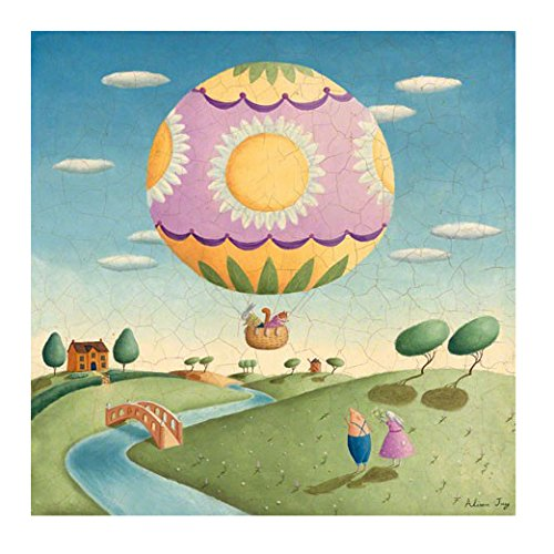 Oopsy Daisy Balloon Adventurer Stretched Art, 30 x 30'' by Oopsy Daisy