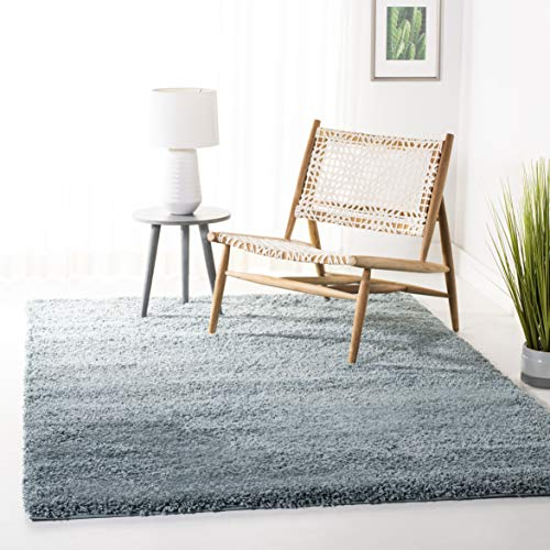 Safavieh California Premium Shag Collection SG151-6060 Light Blue Area Rug (8' x 10')