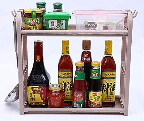 Estante para Especias id/óneo como Organizador de Condimentos o Salsas ,(Estante de Maquillaje) Grsafety Especiero Extensible