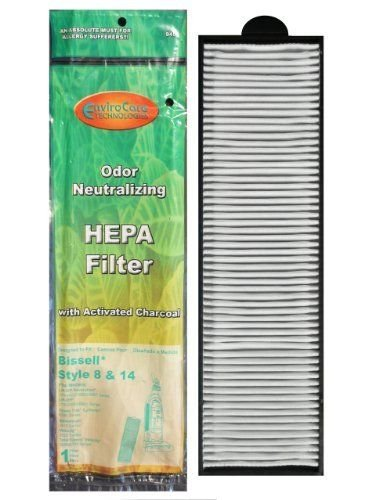 EnviroCare Replacement HEPA Vacuum Filter for Bissell Style 8/14 Uprights 2 Filters