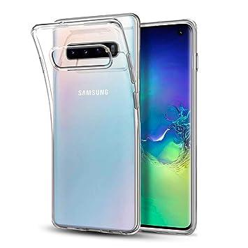 POOPHUNS Funda Carcasa Samsung Galaxy S10, Fundas Carcasas Case Caso Transparente para Samsung Galaxy S10, Ultra Fina, Cristal Claro Absorción ...