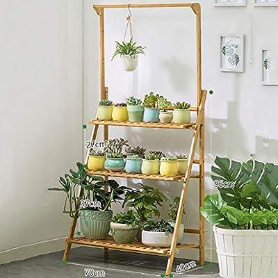 YXWa Puesto de Plantas Jardín de Escalera al Aire Libre Puesto de ...
