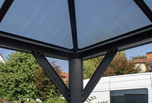 Hanover Carpa de Aluminio con Paneles de Techo de policarbonato ...