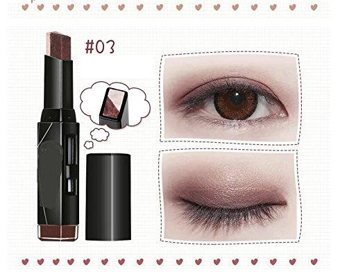 Maquillaje de Ojos para Principiantes Sombra de oj LadiesEarth Color Double Eye Shadow Stick Maquillaje Shimmer Eyeshadow Pen Strollway