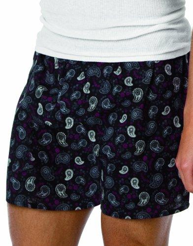 Hanes Big Mens Dark Ground 3 Pack Printed Boxer, XXL, Assorted Prints (Mens Hanes Xxl Underwear)