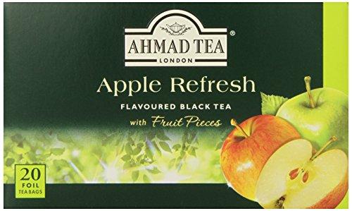 Ahmad Tea Apple Refresh Black Tea, 20-Count Tea Bags (Pack of 6)