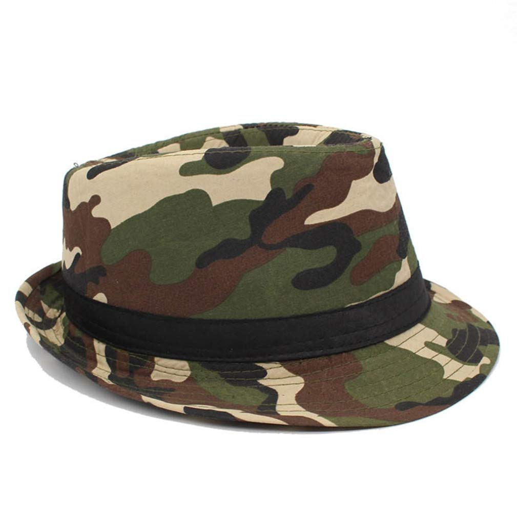 Unisex Camouflage Panama Caps Boater Fashion Sun Summer Top Hats
