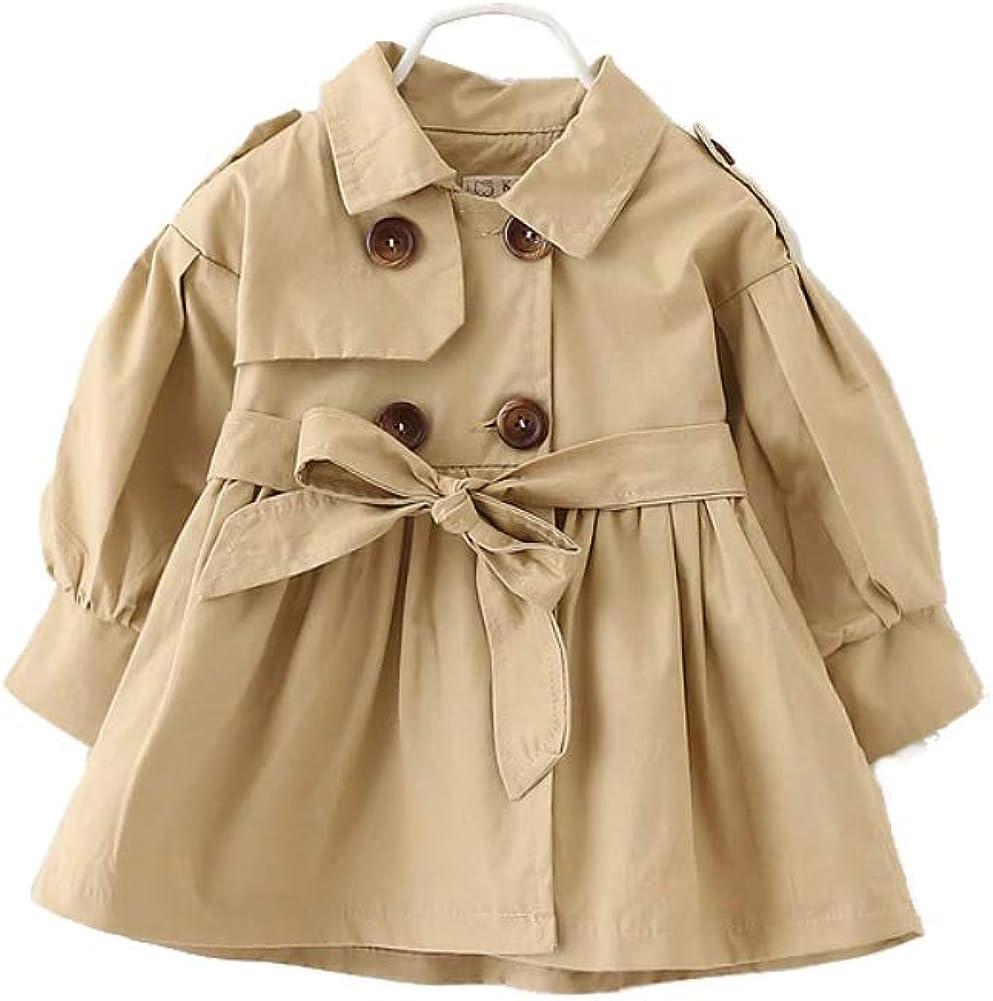 Trench Coats Kids Girls Korean Style Khaki Jackets Winter Coat Baby Girl