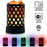 Himalayan Glow 903AC Lattice USB Salt Lamp, Multicolor Night Light with Pink Chunks by Wbm