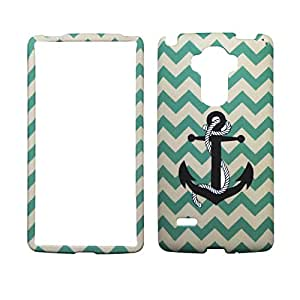 Aqua Chevron Anchor For LG Stylus H631 Case Cover Soft Finish Coated Surface with Premium Skin Hard Shell Phone Case Cover
