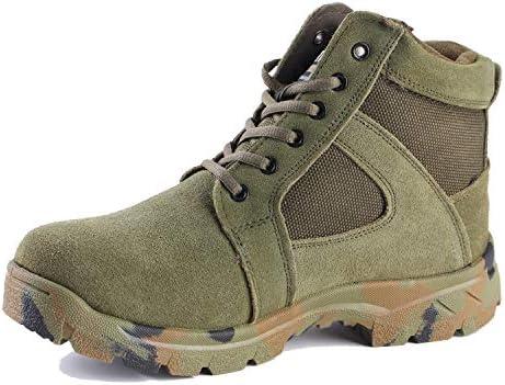 メンズアウトドアブーツハイキングトレッキング登山靴ハイキング快適な滑り止め耐摩耗性戦闘を通気性軽量軍事 (Color : Army Green, Size : 6.5UK)
