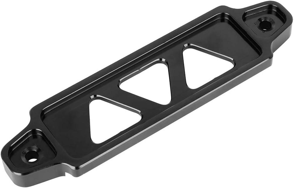 X AUTOHAUX 170mm Lunghezza Alluminio Lega Batteria Legame Supporto Nero per Auto