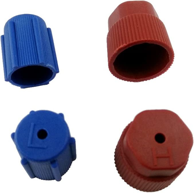 4 Pieces New AC Charging Port R134a Side AIR Conditioning Cap 13MM Blue+16MM Brown