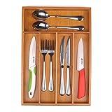 "SafeHouseware 5-compartment Kitchen Utensil, Flatware, Cutlery Tray Drawer Organizer Size:10.3"" W X 14.5""D X 1.75"" H"