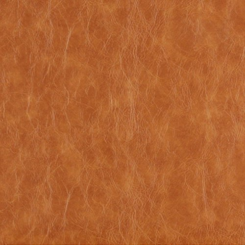 Recycled Leather - G625 Caramel Brown Distressed Leather Look Upholstery Grade Recycled Leather (Bonded Leather) By The Yard