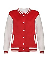 a2z4kids Kids Girls Boys Baseball Jacket Varsity Style Plain School Jackets TOP 2-13 Year