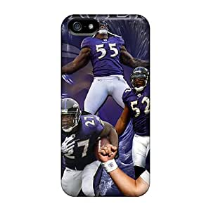 Excellent Hard Phone Case For Iphone 5/5s (aZY16963TRPE) Support Personal Customs Fashion Baltimore Ravens Series