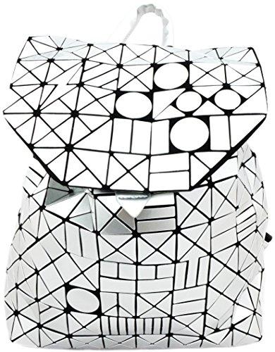 Tom & Eva Rucksack Damen Silber Origami Muster