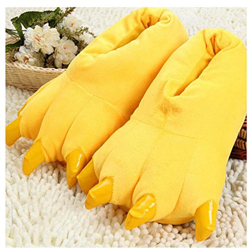 Peluche LANFIRE Unisex Costume Animal Peluche Pantofole Paw Shoes Yellow Claw p5qwEpr