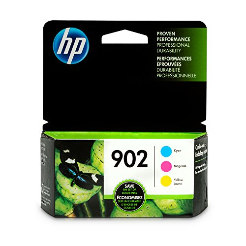 HP 902 Cyan, Magenta & Yellow Original Ink Cartridges, 3 Cartridges (T6L86AN, T6L90AN, T6L94AN) for HP OfficeJet 6958 6962 HP OfficeJet Pro 6968 6954 6975 6978 by HP
