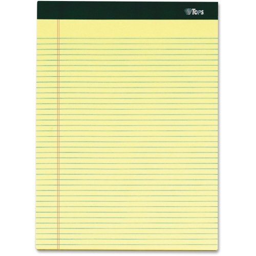 Tops Notepads,Narrow Ruled,100 Shts,8-1/2''x11-3/4'',6/PK,Canary