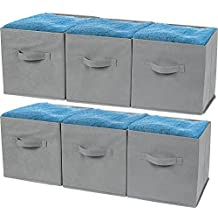 Greenco Foldable Non-Woven Fabric Storage Cubes (6 Pack), Gray