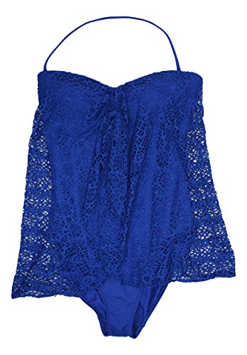 Lauren Ralph Lauren Women's Crocheted Strapless Flyaway One-Piece Swimsuit, Ocean, 8 8 - Outlet Lauren Womens Ralph