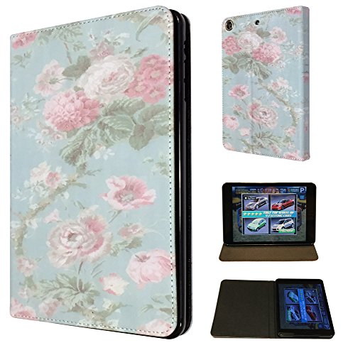 3D Vintage Shabby Chic Floral Pink Roses ipad air 2 -2014 Design Fashion Trend Cover Full Case Flip Tpu Leather Stand Cover