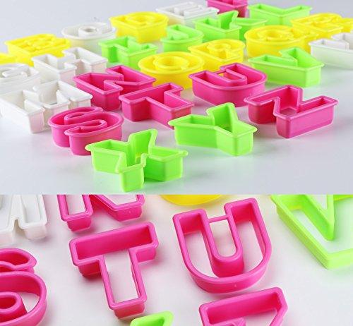 ilauke 26 Set Plastic Alphabet Letter Cookie Fondant ...