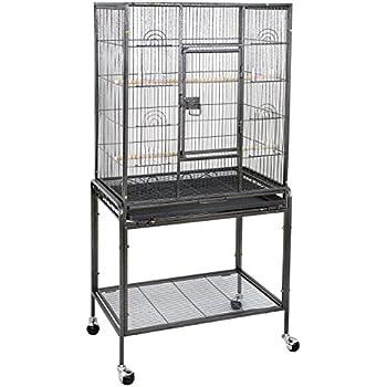 """ZENY 53"""" Birdcage Pet Bird Parrot Cage Chinchilla Cockatiel Conure Large Cockatiel House Metal Wheels Pet Supply (53"""")"""