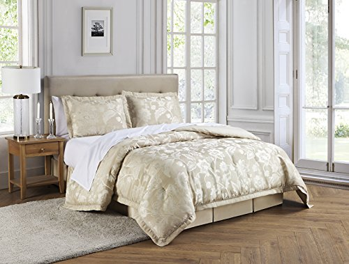 Marquis By Waterford Emilia Comforter Set, Queen, Cream (Waterford Comforter)