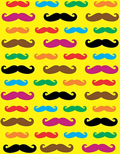 7in x 9in Assorted Color Mustache Vinyl Sheet Sticker Colorful Yellow Decal by StickerTalk