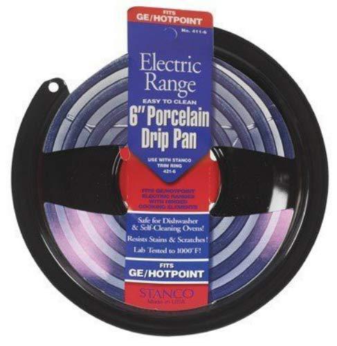 (OKSLO Electric range drip pan, hinged element, non-stick porcelain, 6\)