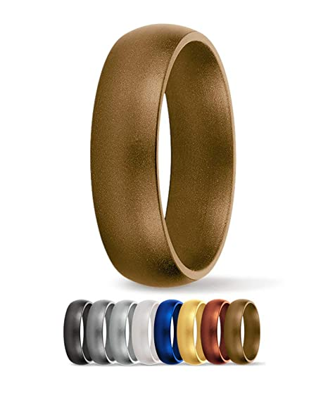 Amazon Com Saferingz Silicone Wedding Ring 6mm Made In The Usa