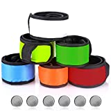 SENHAI LED Slap Bracelets Wrist Light for Running Riding Walking, Pack of 6 Armbands Glow Snap Bracelets, 6 Different Colors
