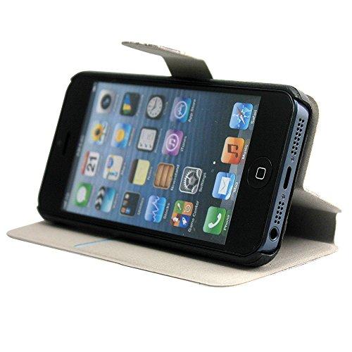 Harryshell Apple iPhone 5c Leather Case, Harry Potter Marauders Map Inspired Flip Leather Skin Case Cover Compatible with Iphone 5c (Harry Potter 1)