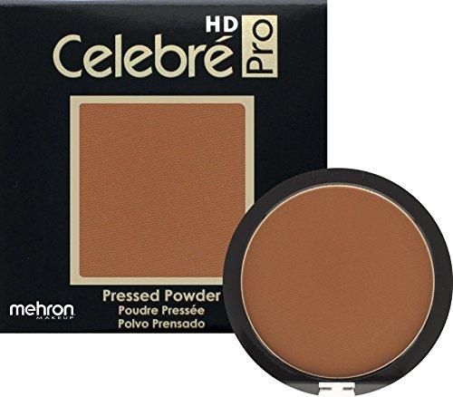 Mehron Makeup Celebre Pro-HD Pressed Powder Face & Body Makeup, MEDIUM DARK 4 - .35oz - Clay Medium Dark Powder