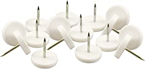 """SoftTouch 4603395N Nail-on Value Pack Furniture Glides for Straight Wooden Legs, 7/8"""""""