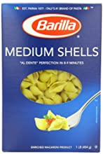 Barilla Pasta, Medium Shells, 16 Ounce (Pack of 12)