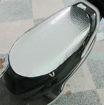 CWAIXX Motos asiento cubierta SPF aislamiento almohadilla eléctrica asiento coche batería aluminio reflectante hoja membrana para