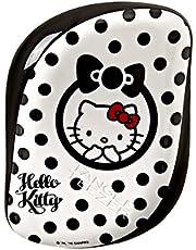 Tangle Teezer Hello Kitty Compact Styler Detangling Hairbrush, Black-white