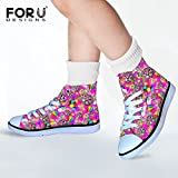 FOR U DESIGNS Funny Pink Cat Style Lightweight High